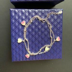 Brand new 925 silver heart bracelet